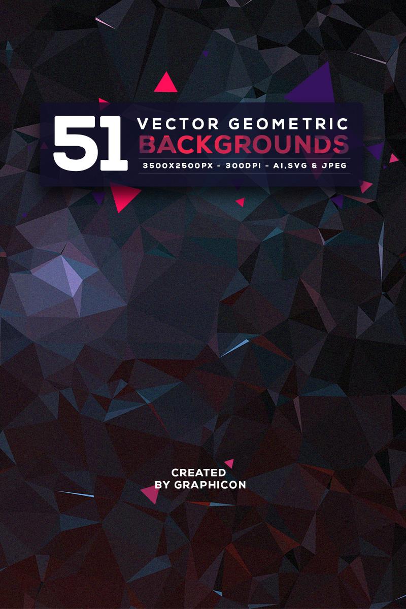 """Ilustración """"51 Vector Geometric Backgrounds"""" #67818 - captura de pantalla"""