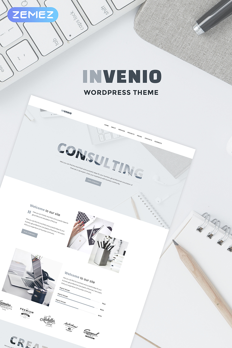 Invenio - Classy Financial Advisor WordPress Theme - screenshot