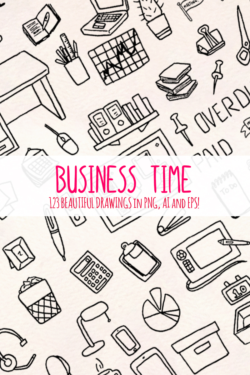 123 Office and Business Work Vector Drawings Illustration #67884