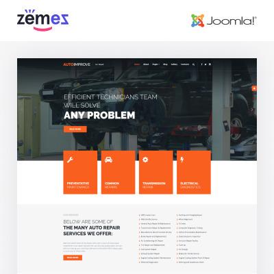 Joomla Vorlage #52585 für Autoreparatur