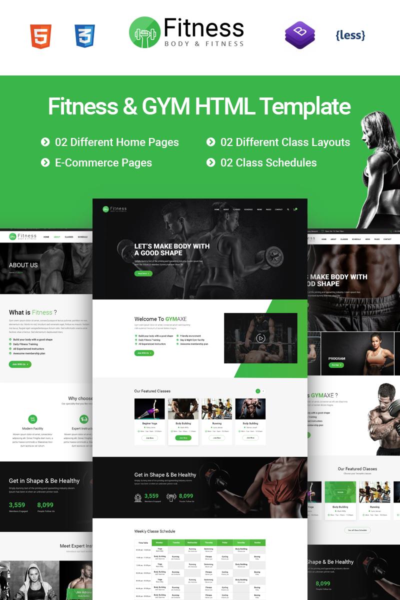 Reszponzív Fitness - Gym Fitness Weboldal sablon 67810