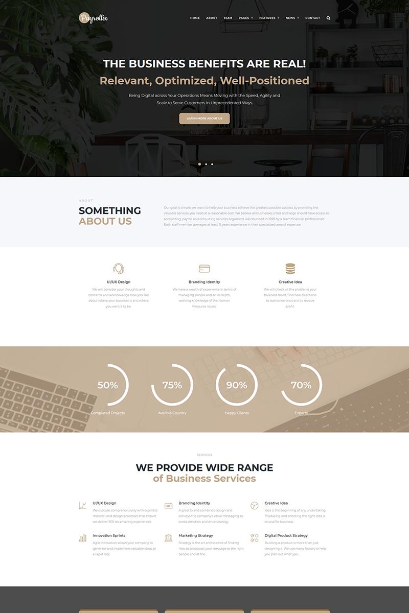 Reszponzív Payrollix - Internet Business Accounting WordPress sablon 67822