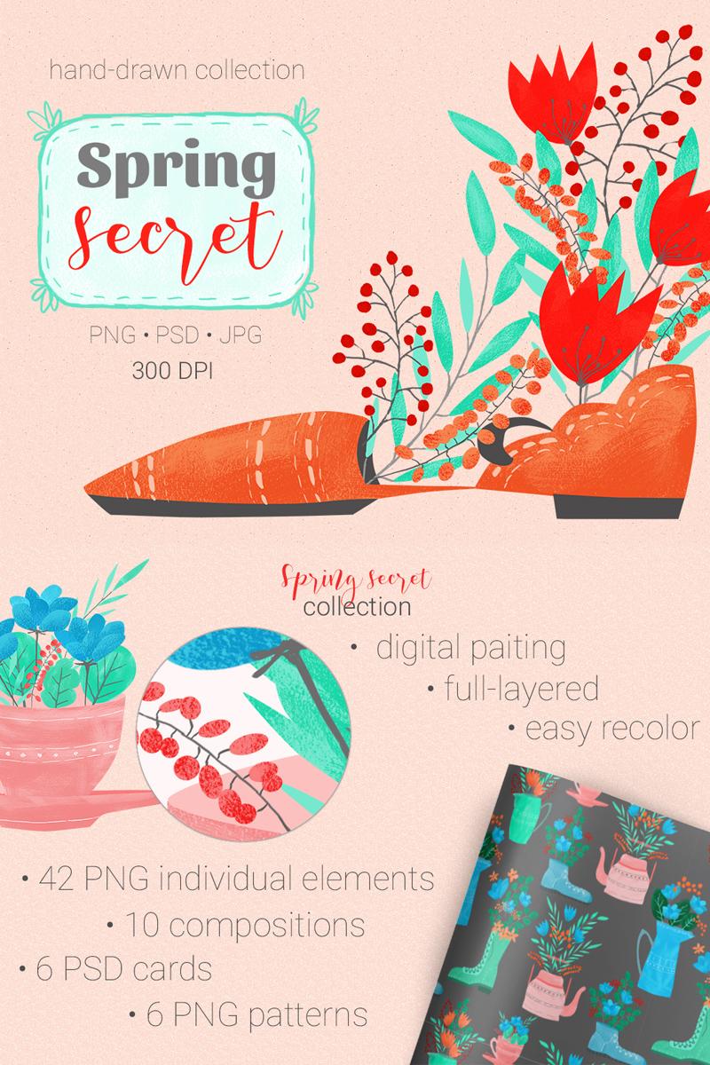 Spring Secret Collection Illustration #67814