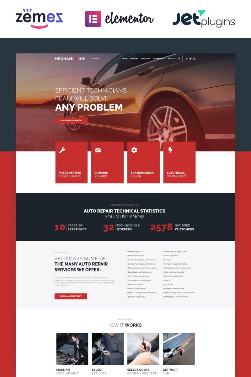 "Tema De WordPress ""Mechanicum - Car Repair Elementor"" #67865"