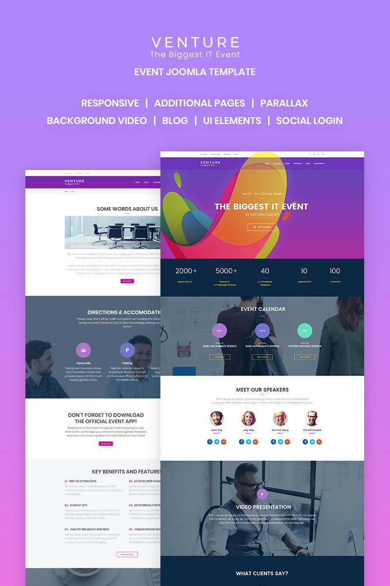 Venture - Event Planner Joomla Template - screenshot