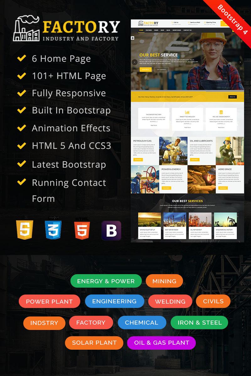"Website Vorlage namens ""Factory : Factory & Industrial HTML"" #67854"