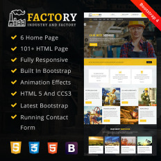 Factory Industrial HTML Responsive Website Theme