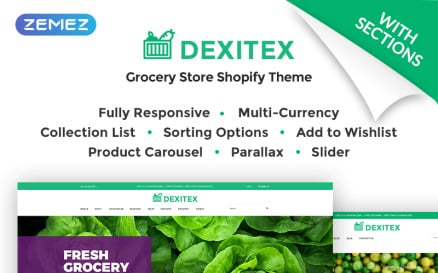 Dexitex - Convenient Grocery Online Store Shopify Theme