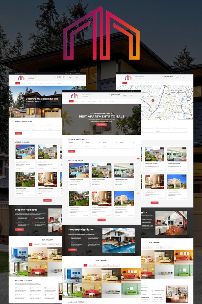 Website Design 67932 Real Estate Html5 Custom Website Design Real