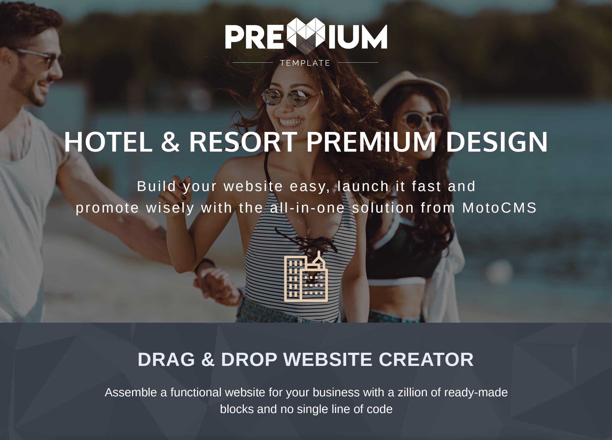 Resortio - Premium Moto CMS 3 Template