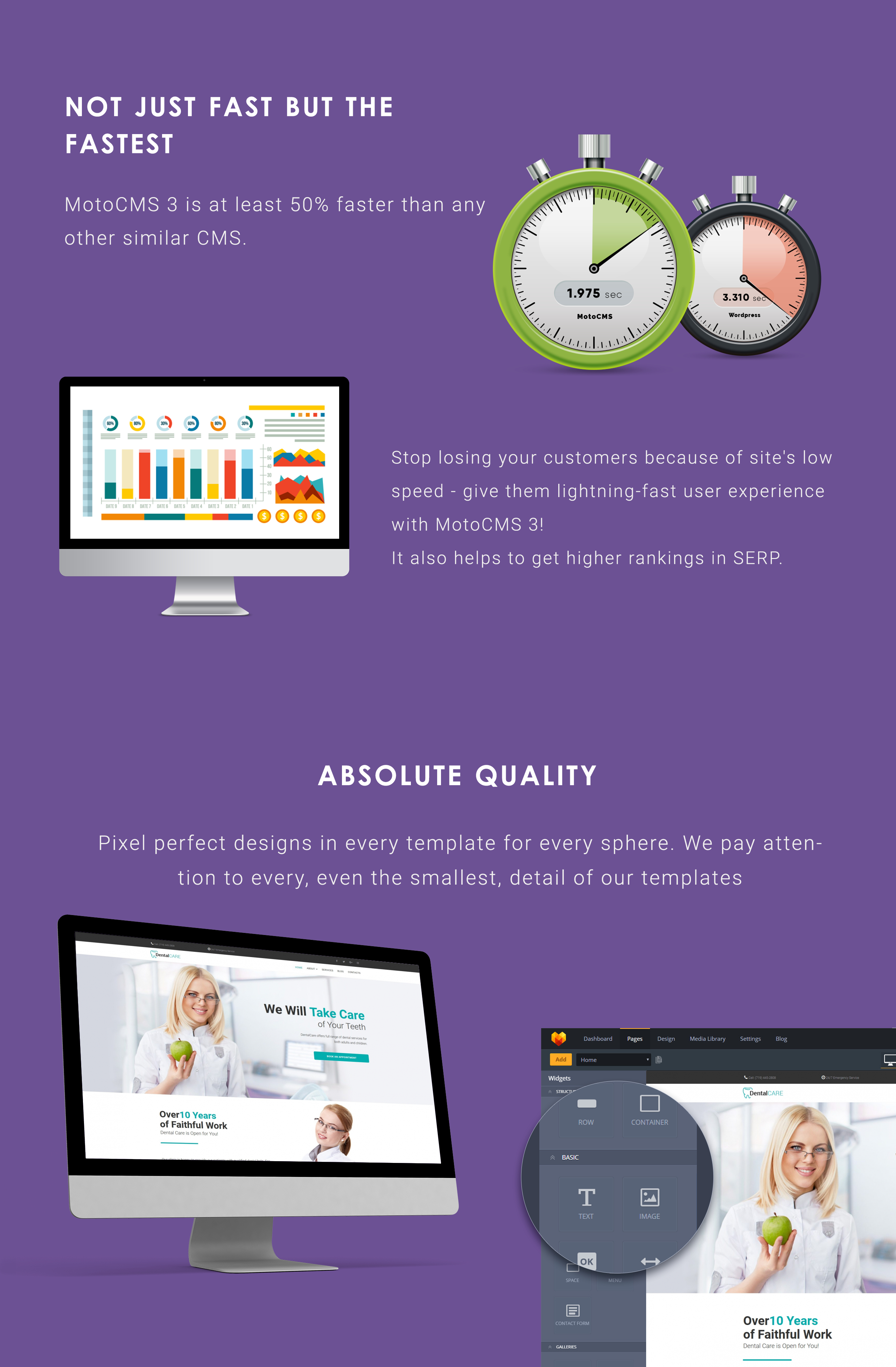 DentalCare - Dental Clinic Moto CMS 3 Template