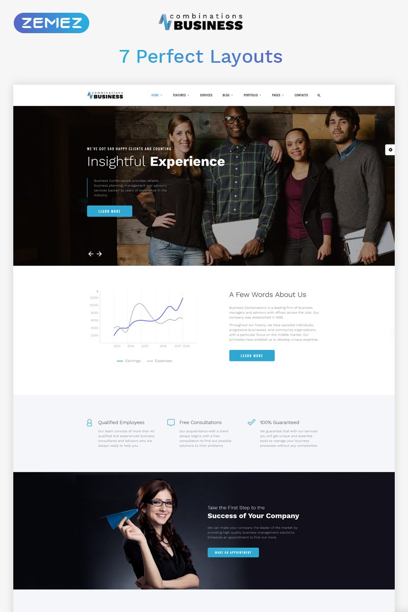 Business Combinations - Dynamic Financial Adviser HTML Website Template