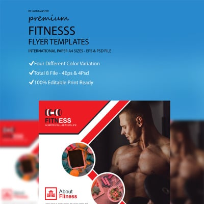 Fitness Flyer Corporate Identity Template 67913