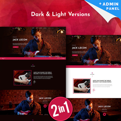 Jack Lecon Singer - Landing Page Template based on Bootstrap