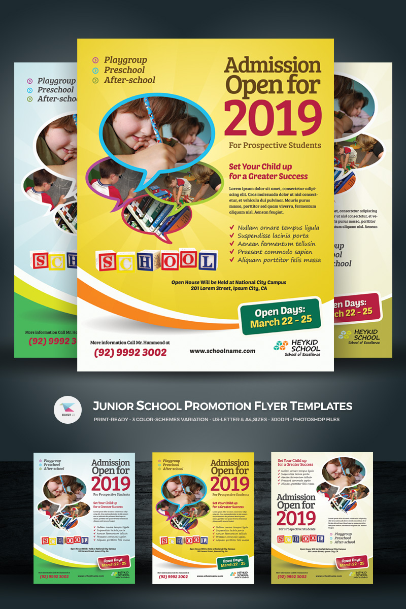 Junior School  - Promotion Flyer PSD Template