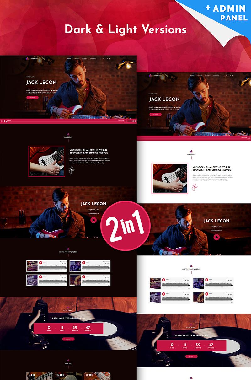 "Landing Page Template namens ""Jack Lecon Singer"" #67952"