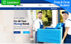 """Landing Page Template namens """"Packing and Moving Company MotoCMS 3"""" New Screenshots BIG"""