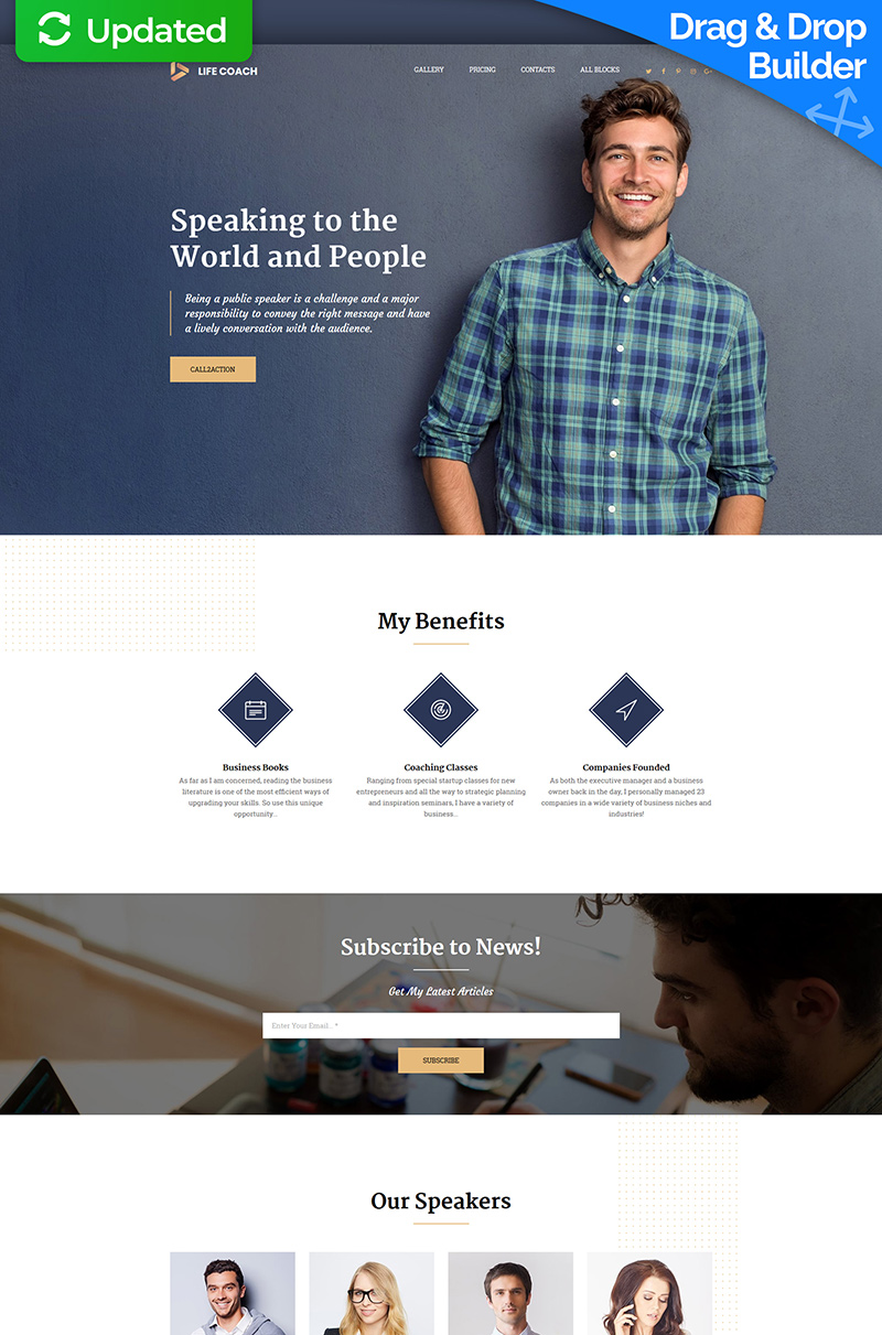 Life Coach MotoCMS 3 Landing Page Template