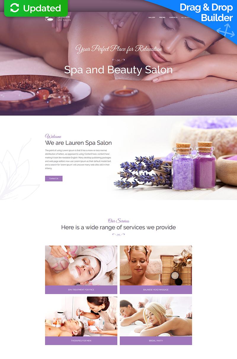 """Massage Therapist and Beauty Salon"" 响应式着陆页模板 #67964"