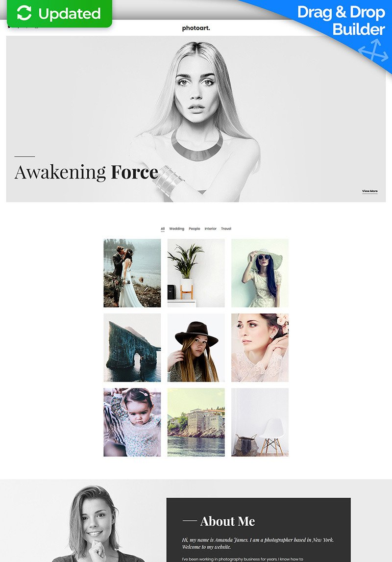 Amanda Page Real Name live demo for photography motocms 3 landing page template #67961