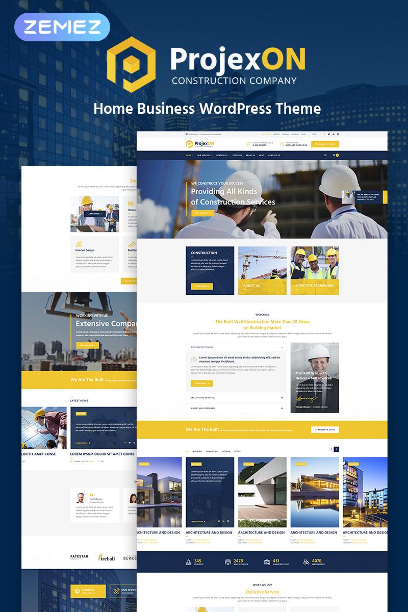 Projexon - Bright Construction Complany WordPress Theme - screenshot