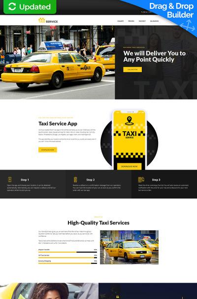 Taxi Responsive Açılış Sayfası Şablonu