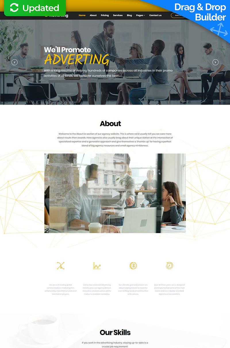 Responsivt Adverting - Advertising Agency Moto CMS 3-mall #67991 - skärmbild