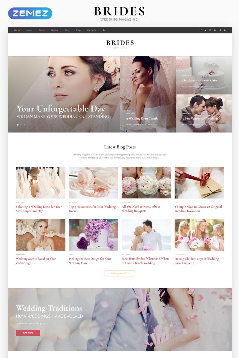 Responsivt Brides - Wedding Magazine Multipurpose HTML Hemsidemall #67911