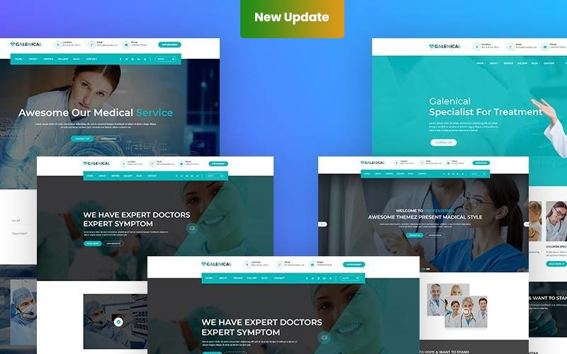 """Responzivní WordPress motiv """"Galenical - Medical & Health Service"""" #67928"""