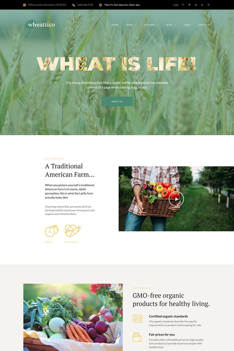 "Template WordPress Responsive #67924 ""Wheattico - Crop Farm Responsive"""