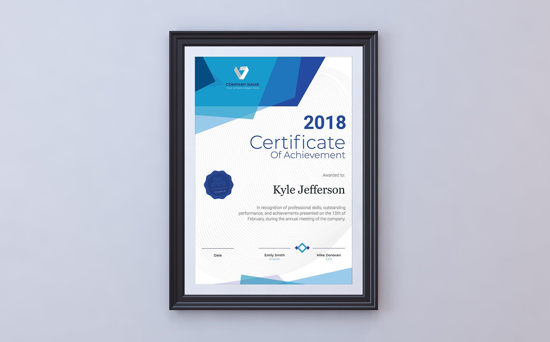 printable certificate of achievement certificate template big screenshot