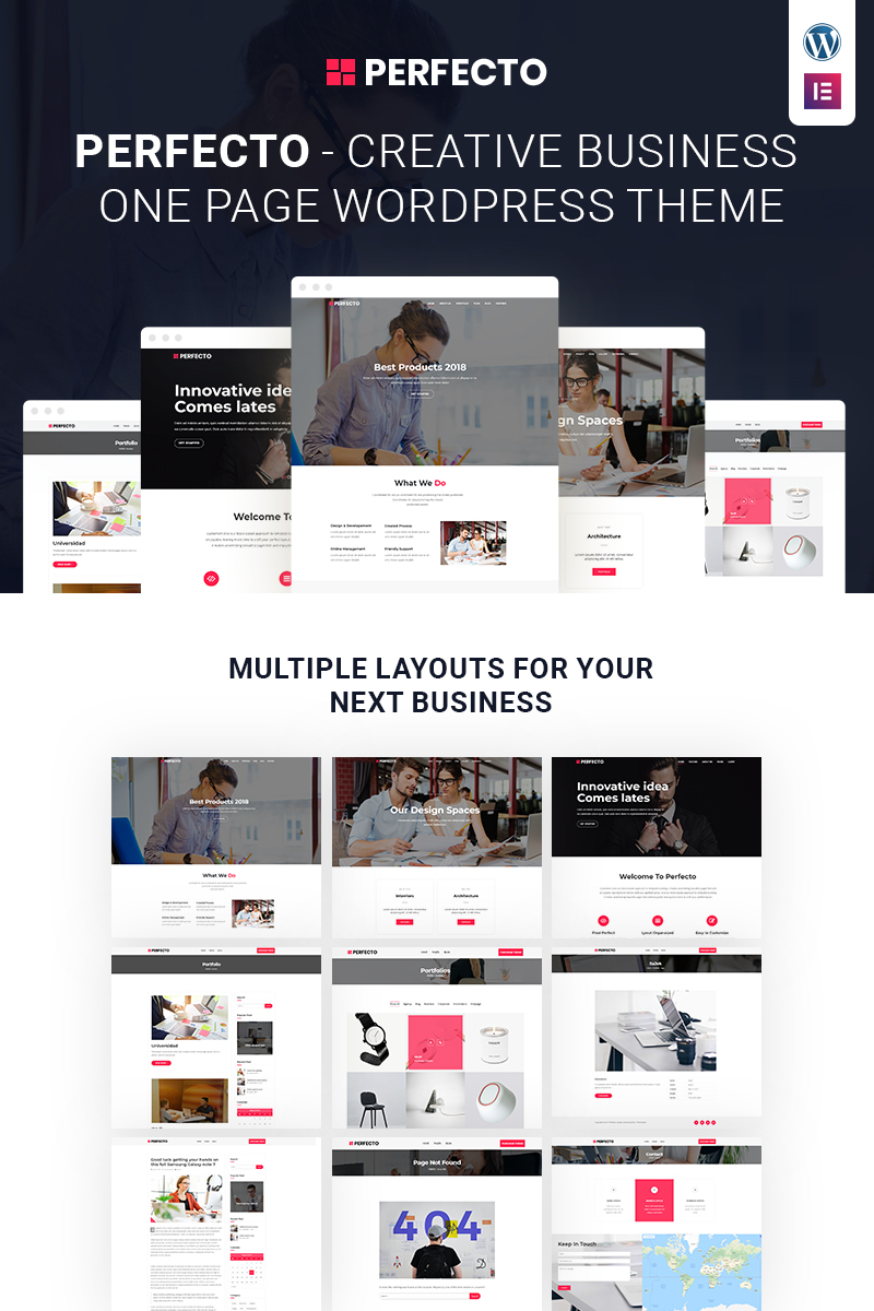 Website Design Template 68090 - corporate marketing service responsive retina wordpress onepager clean typography seo gpl license mobile multipurpose personal