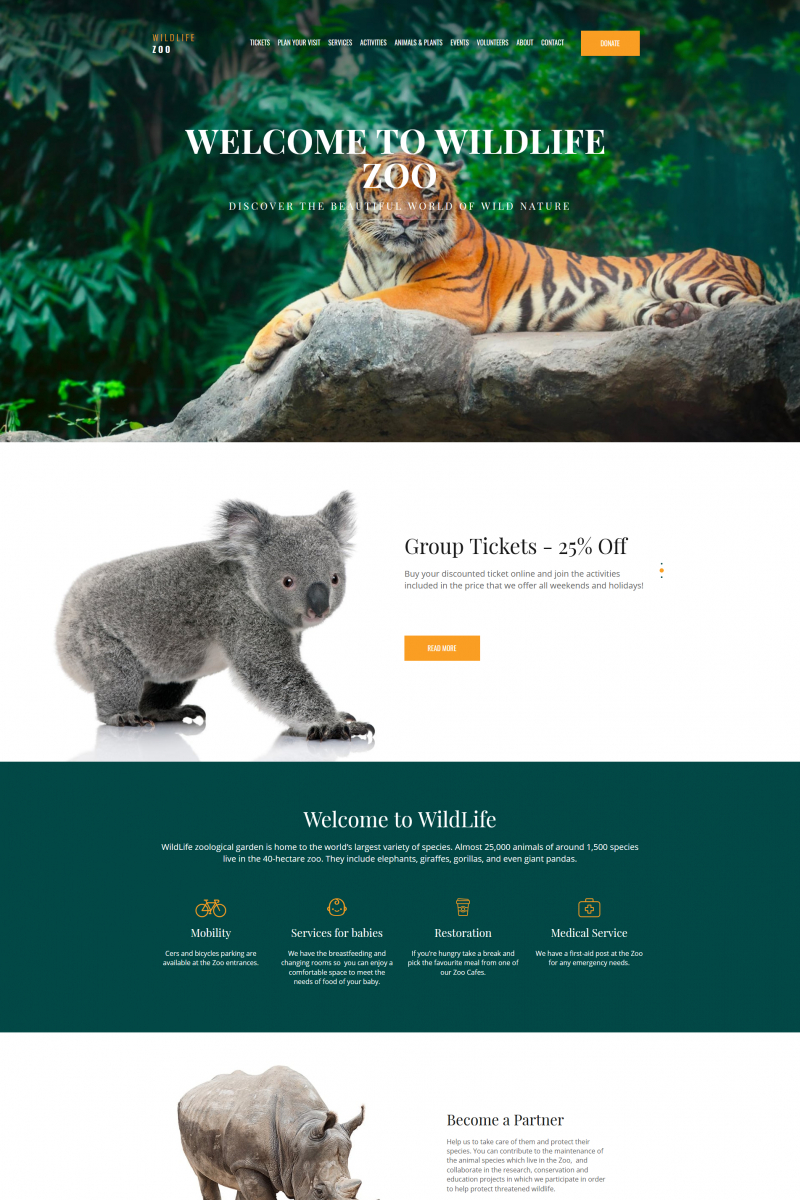 Animals & Pets Responsive MotoCMS 3 Template (Exclusive)