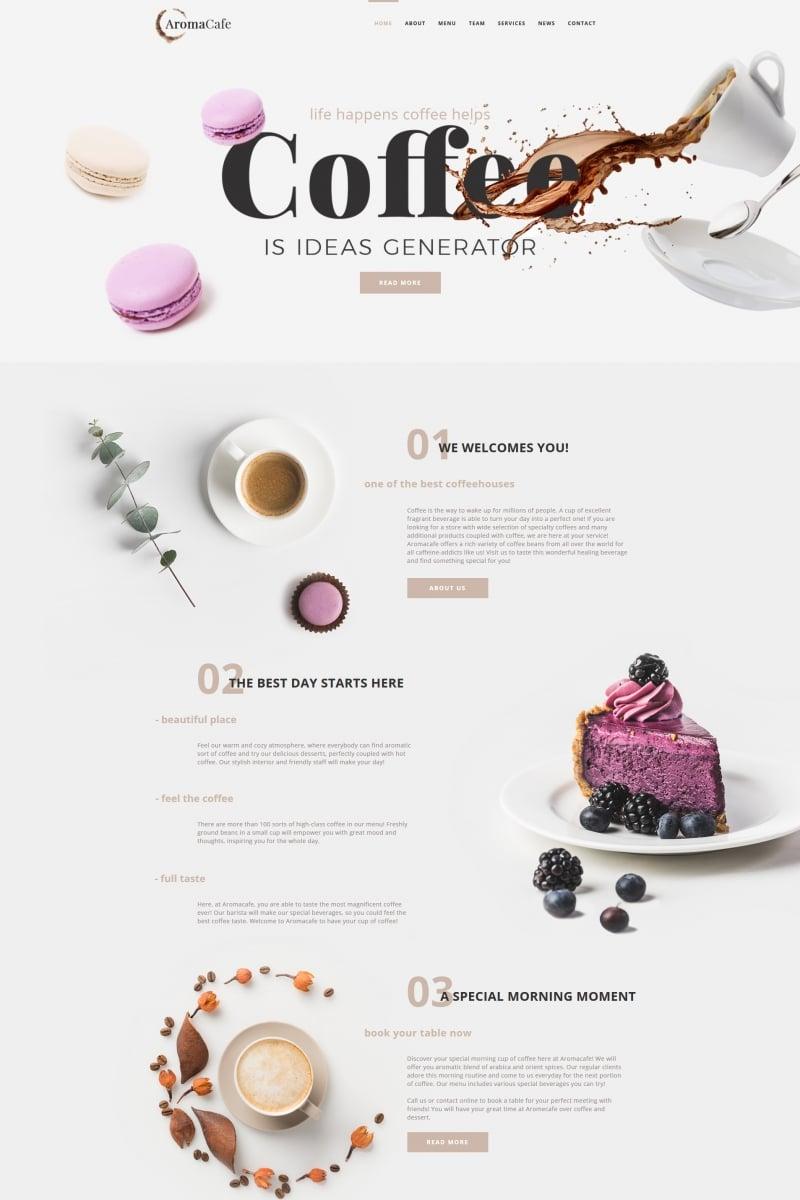 Aromacafe - Coffee Shop Moto CMS HTML Template