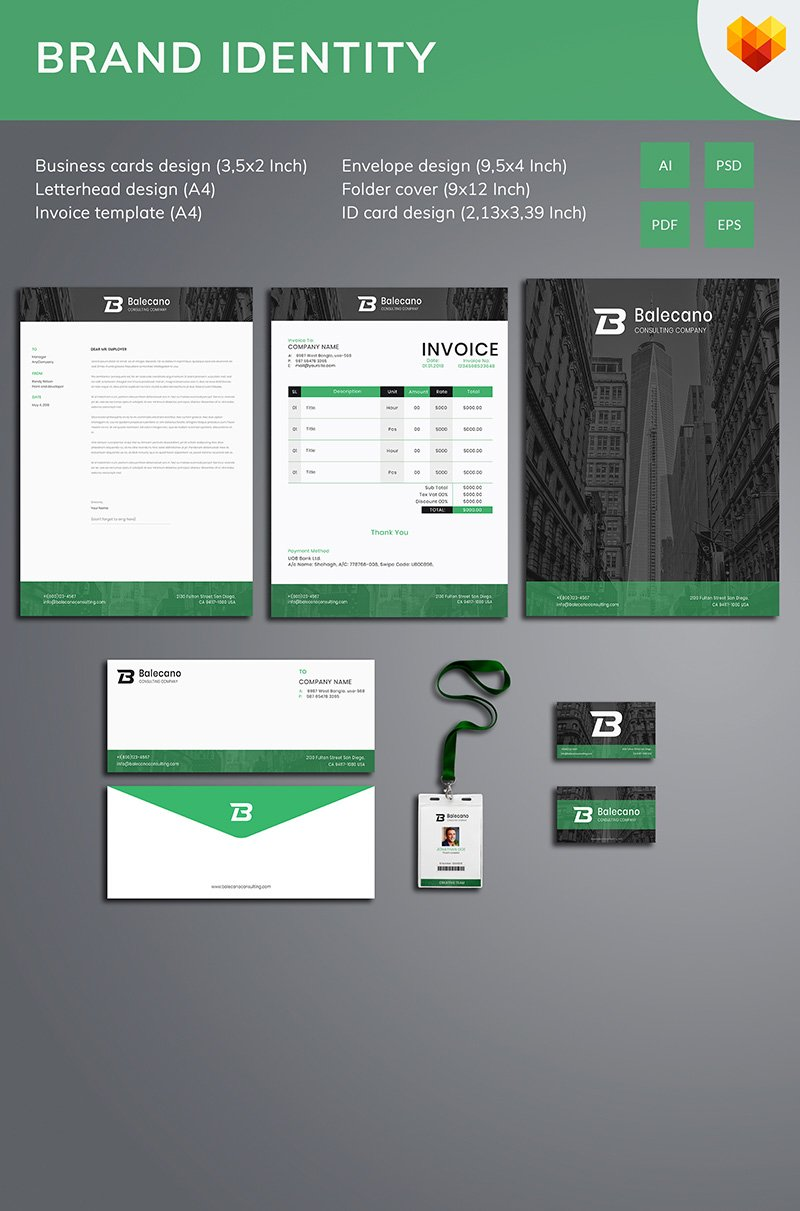 Business Stationery Corporate Identity Template