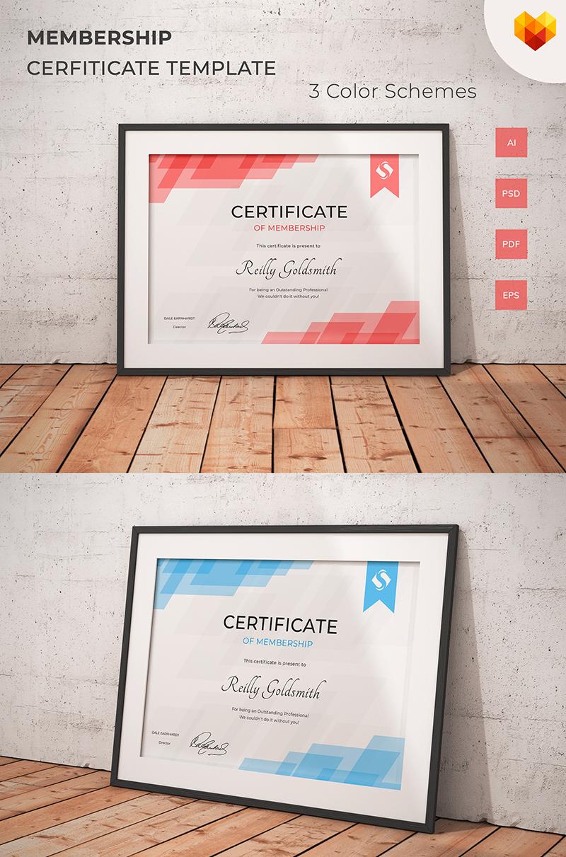 Certificate Of Membership Certificate Template 68040