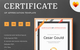 Cesar Gould - Appreciation Certificate Template