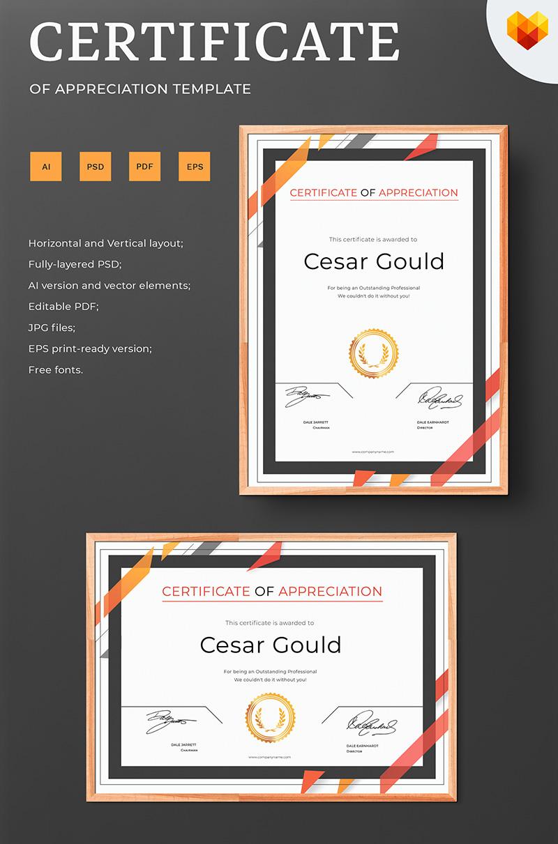 Cesar Gould - Appreciation Certificate Template