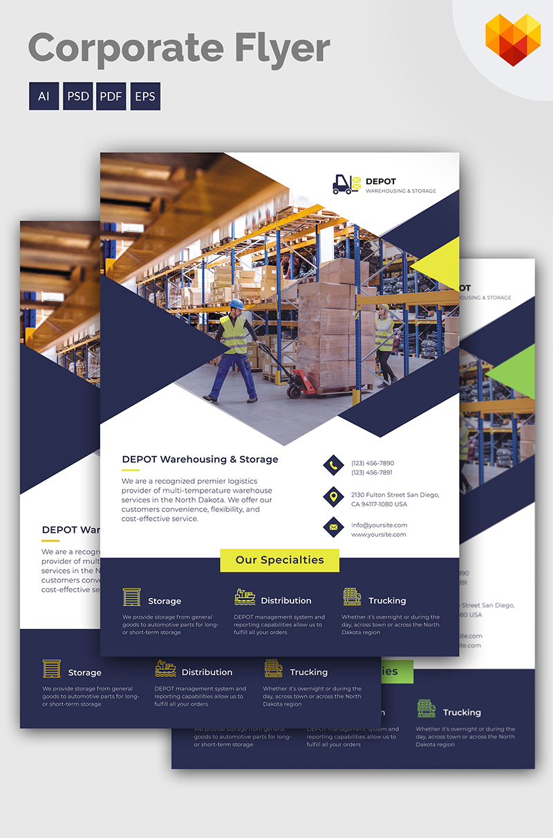 Depot - Flyer Corporate Identity Template