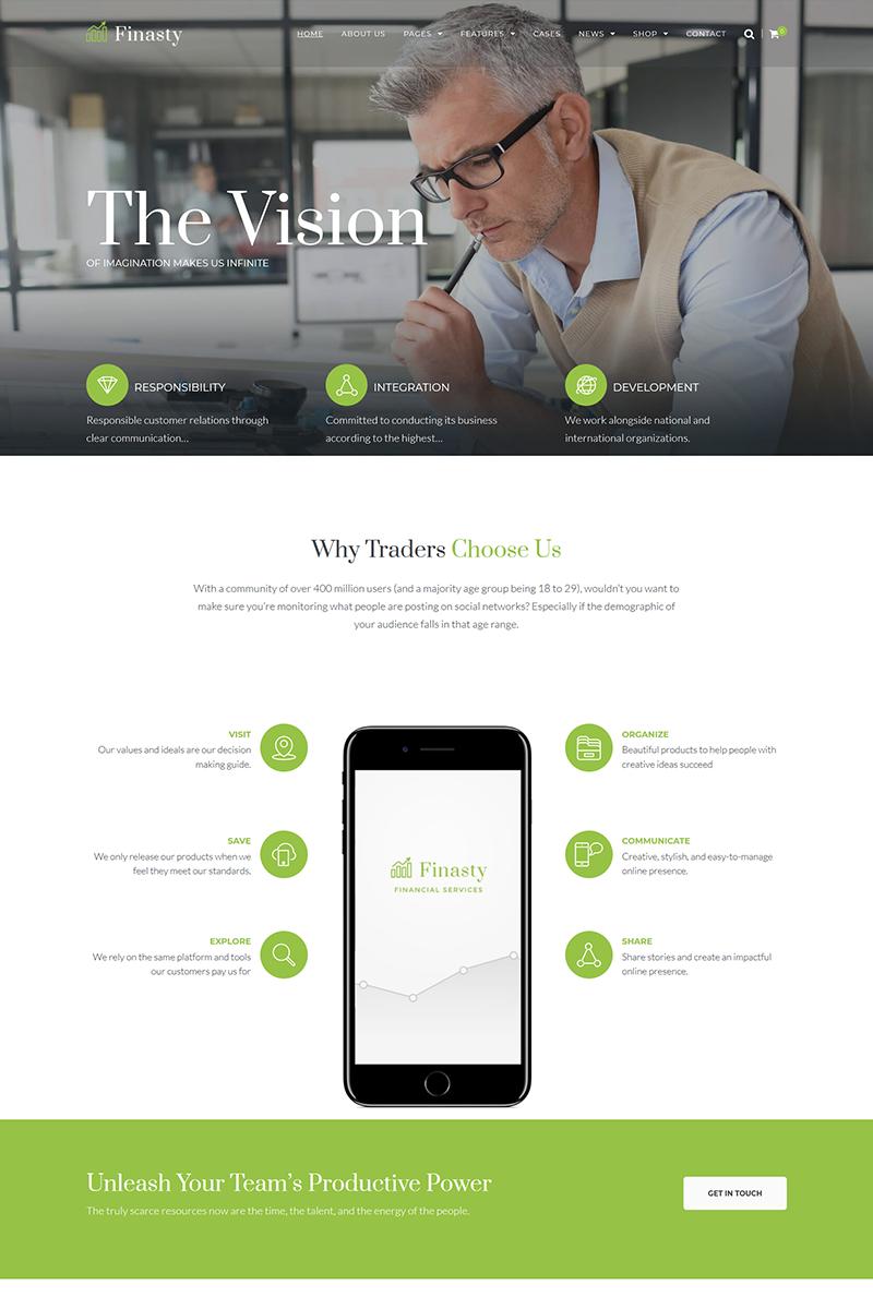 Finasty - Efficient Business Services WordPress Theme