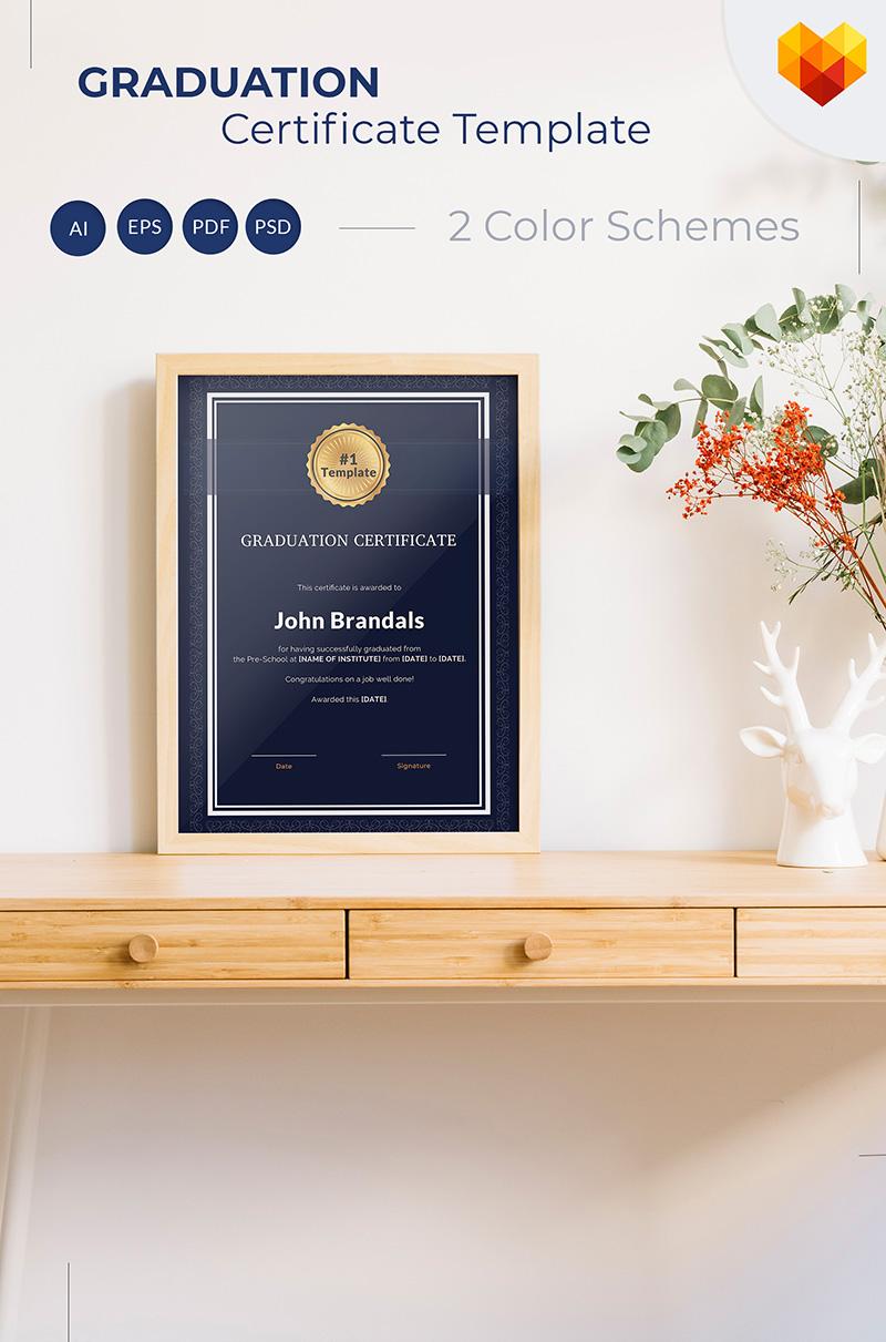 """""""Graduation"""" modèle de certificat  #68042"""