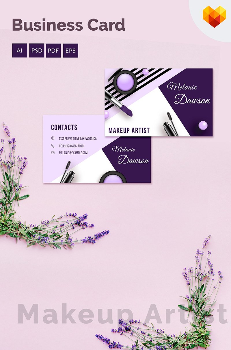 Makeup Business Card Corporate Identity Template