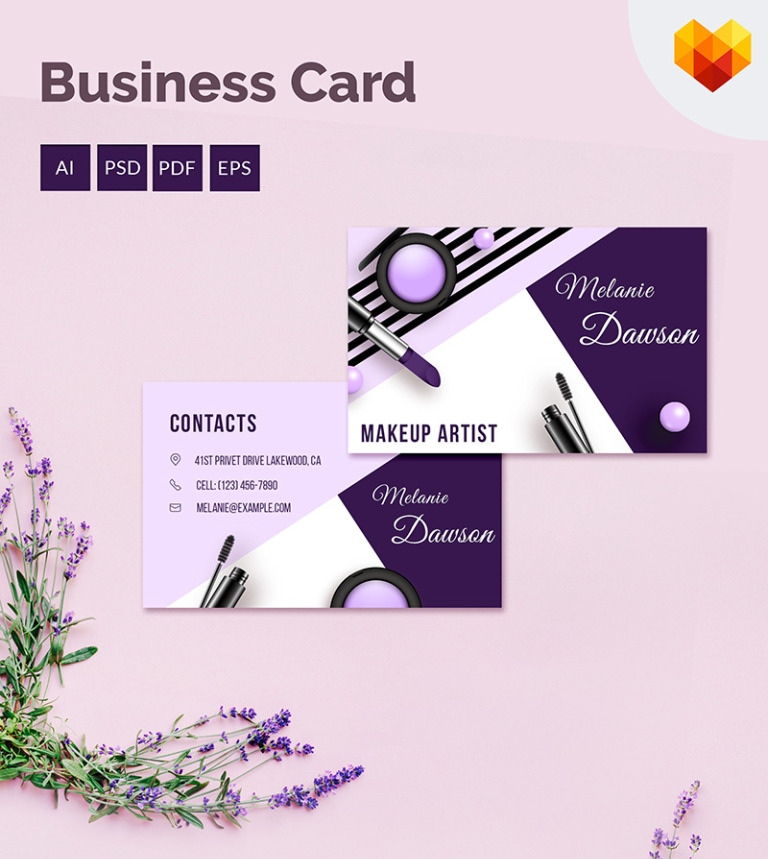 Makeup business card corporate identity template 68034 makeup business card corporate identity template big screenshot reheart Image collections