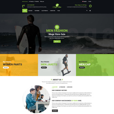 Fashion Store Templates TemplateMonster - Service invoices templates free top 10 mens online clothing stores