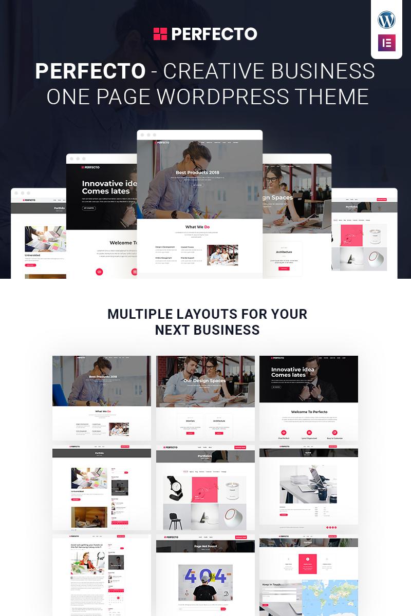 Business One Page WordPress Theme 68090