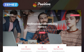 Positive - Advertising Agency Multipage HTML5 Website Template
