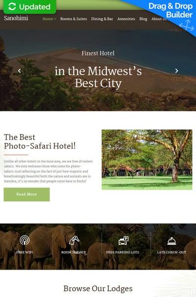Hotels Responsive Moto CMS 3 Şablon
