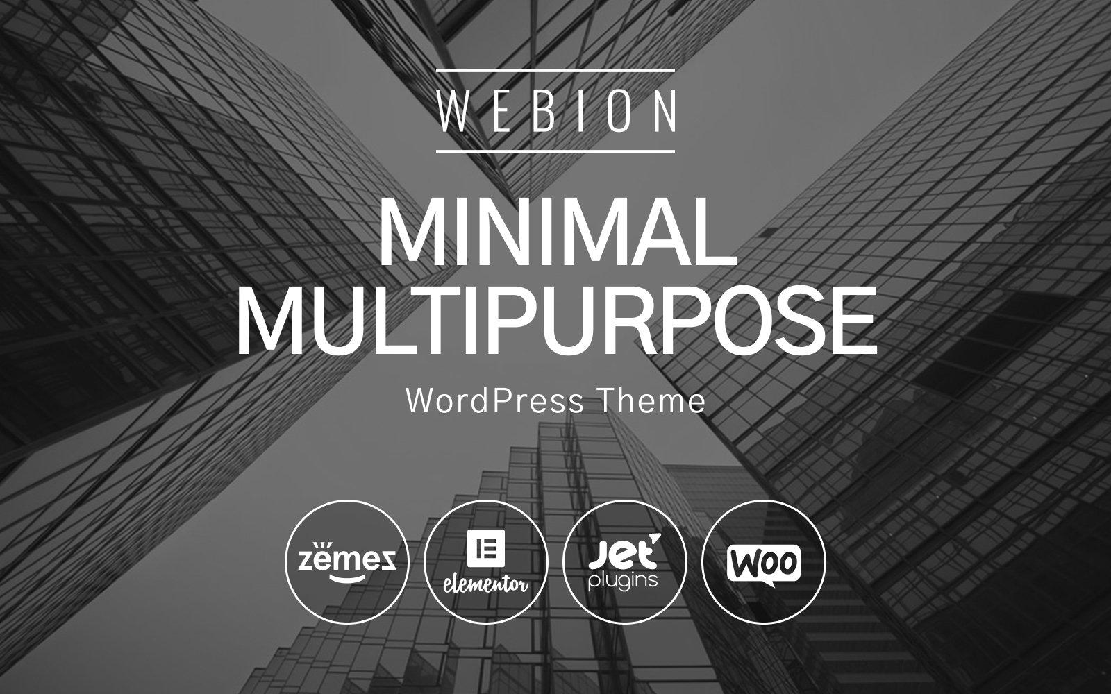 Responsivt Webion - Minimal Elementor Multipurpose WordPress-tema #68092
