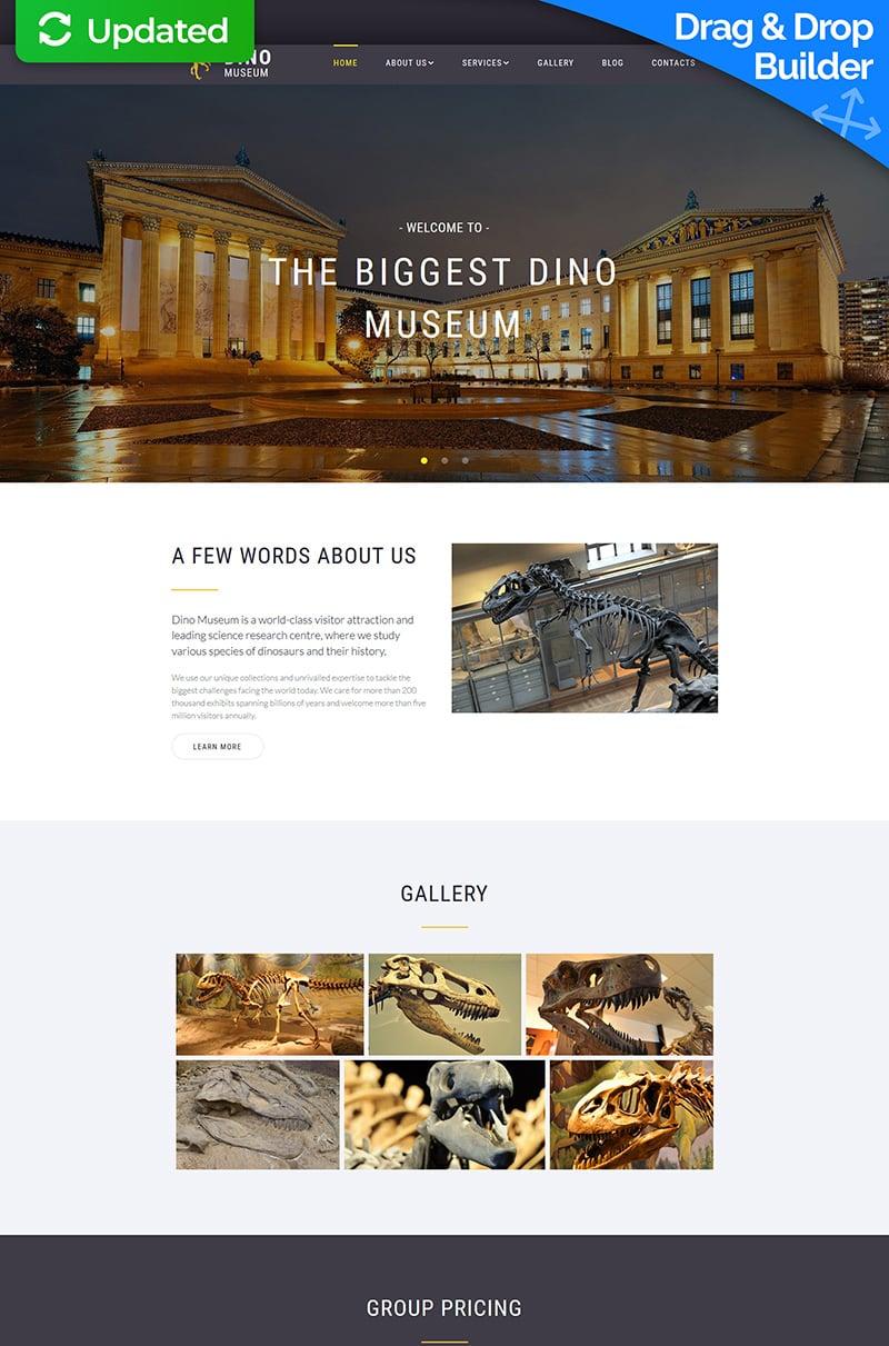 Responsywny szablon Moto CMS 3 Dino - Natural Science Museum #68011