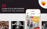 "Шаблон для соцсетей ""10 Clean Style Instagram Pictures"""